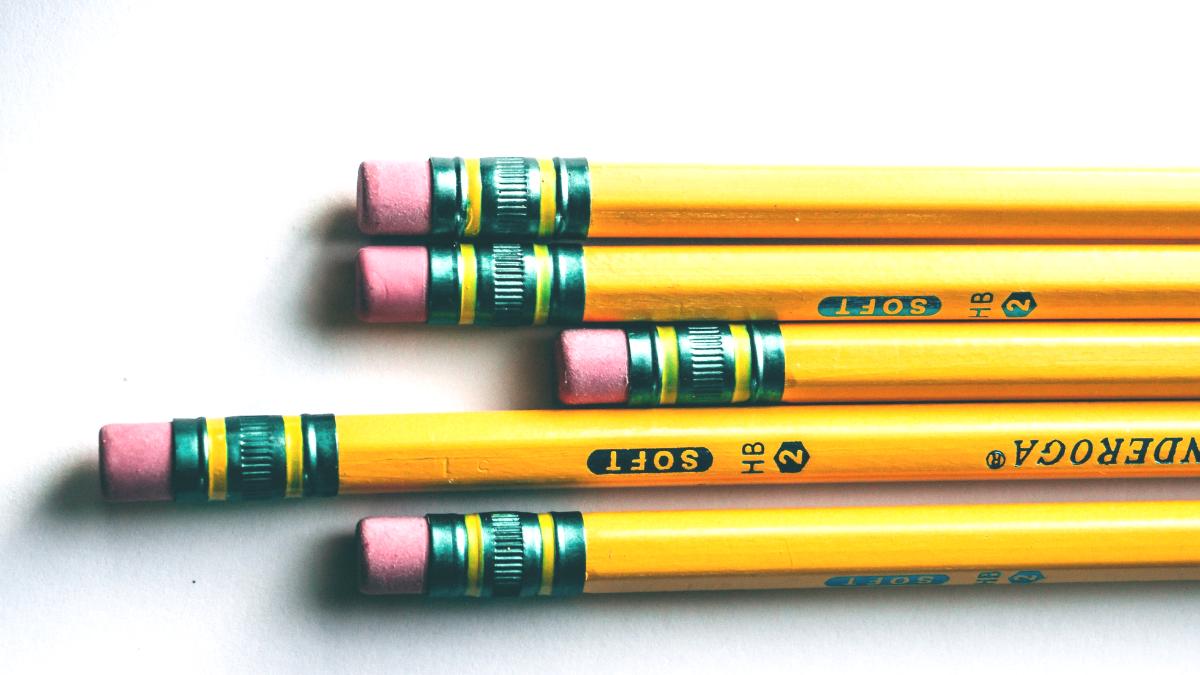 Nichts ist schöner als mit Bleistift zu schreiben